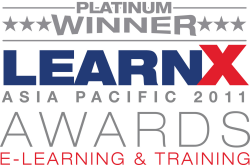 Platinum Winner LearnX Asia Pacific 2011 Awards E-Learning & Training