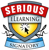 Serious eLearning Manifesto signatory badge